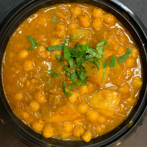 Chana Aloo - Chickpeas and Potatoes