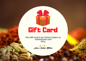 Arun's Indian Kitchen Digital Gift Card