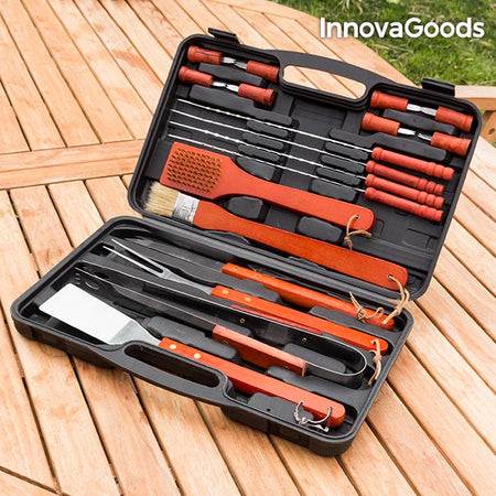 Mallette pour barbecues InnovaGoods (18 Pièces)