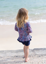 Clovelly in Navy Leopard
