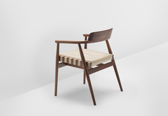 H Furniture // Solid Backrest Leather Chair