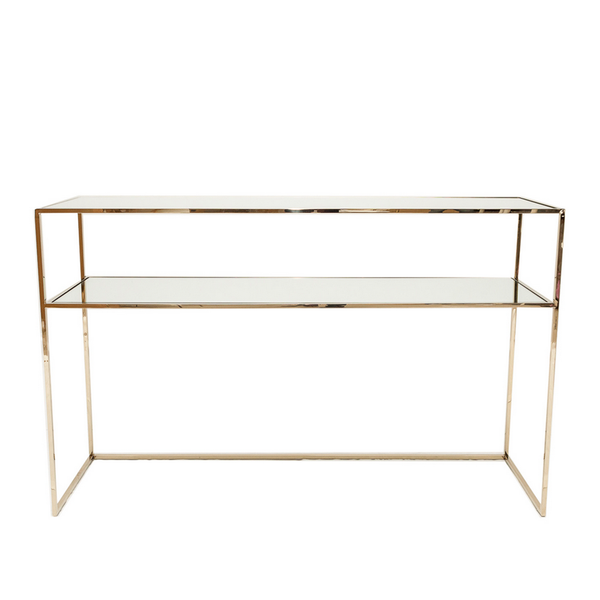 Ruth & Joanna // Gazelle Console Table Brass