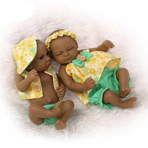 Emeka & Amaka Twin Dolls | Coloured Dolls - Coloured Dolls Black African brown baby