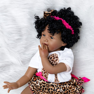 Rohandra Girl Dolls | Coloured Dolls - Coloured Dolls Black African brown baby