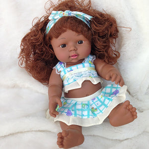 Esmeralda Girl Doll | Coloured Dolls - Coloured Dolls Black African brown baby