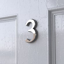 Load image into Gallery viewer, Chrome Self Adhesive Classic Style House Door Numbers