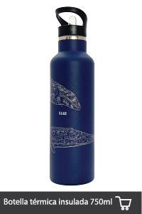 Botella de acero inoxidable Ballenas 750 ML