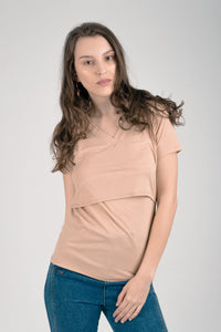 Vneck Basic Breastfeeding Shirt