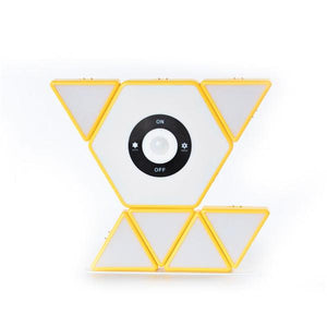 Novelty DIY Connected Lighting Building Blocks-toys-hundredfeel.com-yellow-Main Host & 6 Sub-unit-hundredfeel