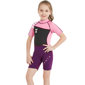 2.5mm Half Sleeve Back Zipper One Piece Wetsuits-wetsuits-hundredfeel-Pink-S-hundredfeel