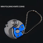 Coin-shape Mini EDC Folding Pocket Keychain Knife-tools-hundredfeel-hundredfeel