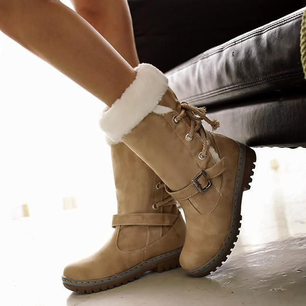 Women Waterproof Lace Up High Top Winter Snow Boots-Booties-hundredfeel.com-YELLOW-34-hundredfeel