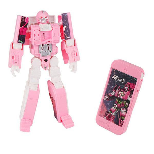 Robot Deformed Watch/Deformed Mobile Phone-toys-hundredfeel.com-PINK(PHONE)-hundredfeel