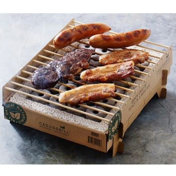 Instant Cardboard  Biodegradable Grill