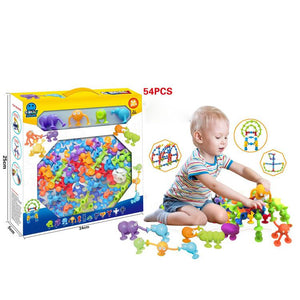 DIY Puzzle Assembled Silicone Sucker Toy-toys-hundredfeel.com-white-54 pack-hundredfeel