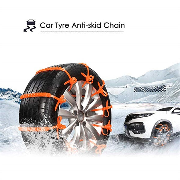 10pcs Universal Winter Car Tyre Anti-Skid Snow Chains-Outdoor Recreation-hundredfeel-hundredfeel
