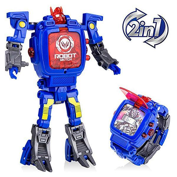 Robot Deformed Watch/Deformed Mobile Phone-toys-hundredfeel.com-BLUE-hundredfeel