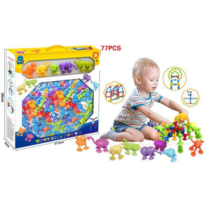DIY Puzzle Assembled Silicone Sucker Toy-toys-hundredfeel.com-white-77 pack-hundredfeel