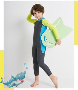 Wetsuits for Kids Boys Girls Back Zipper One Piece Swimsuit UV Protection-Wetsuits-hundredfeel-hundredfeel