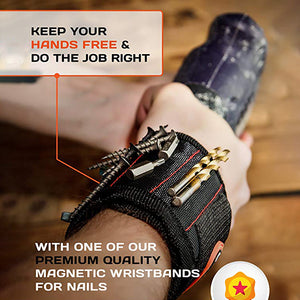 Magnetic Wristband with Strong Magnets for Holding Screws, Nails, Drill Bits-tools-hundredfeel-hundredfeel