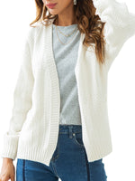 Women's Regular Knit Cardigan-Cardigans-hundredfeel-WHITE-S-hundredfeel
