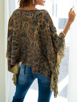 Tiger Pattern Irregular Shawl-Pullover-hundredfeel-hundredfeel