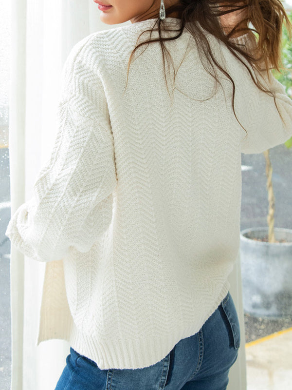 Women's Regular Knit Cardigan-Cardigans-hundredfeel-hundredfeel