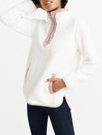 Women's Fluffy Fleece Pullover-Pullover-hundredfeel-WHITE-S-hundredfeel