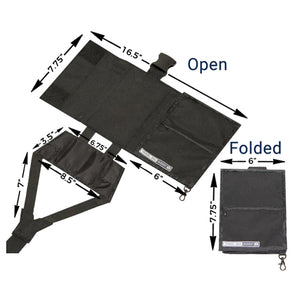 RFID Travel Organizer Attaches with an Extra Sturdy Buckle-home&kitchen-hundredfeel-BLACK-hundredfeel