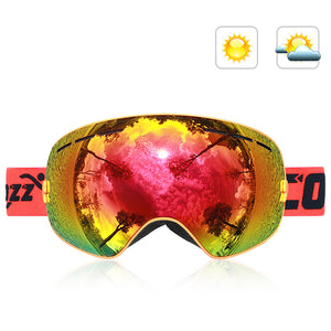Double-Layer Anti Fog Ski Goggles-Outdoor Recreation-hundredfeel-ORANGE-hundredfeel