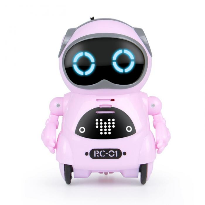 Multifunctional Electric Voice Mini Pocket Robot- Great Gift for Kids-toys-hundredfeel-Pink-hundredfeel