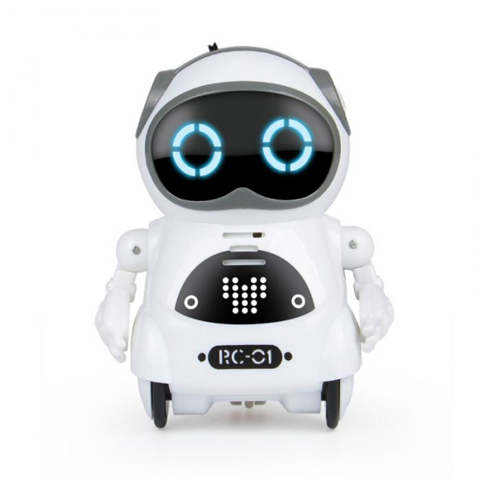 Multifunctional Electric Voice Mini Pocket Robot- Great Gift for Kids-toys-hundredfeel-White-hundredfeel
