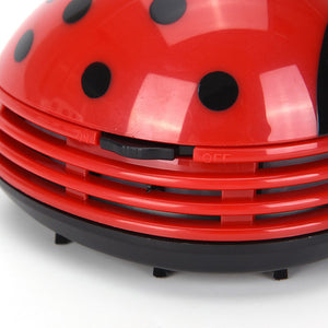 Portable Beetle Ladybug Mini Desktop Vacuum Desk Dust Cleaner-home&kitchen-hundredfeel-hundredfeel