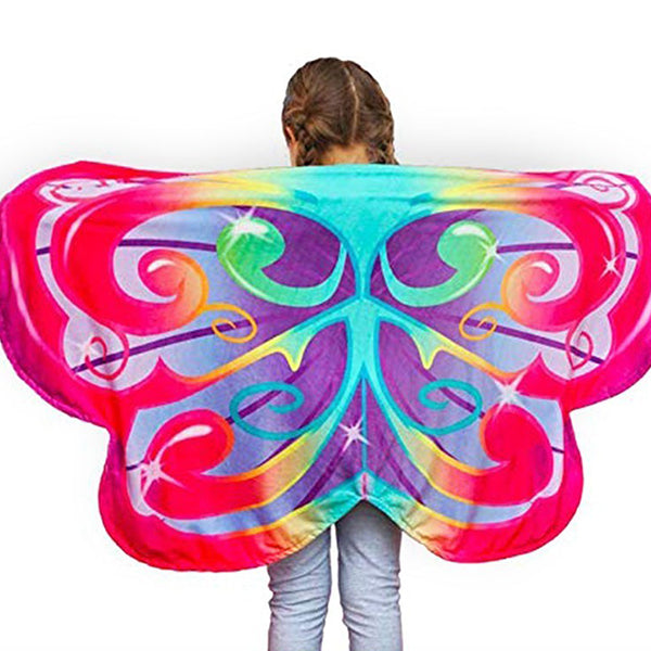 Cozy Wings Wrap Around Magic Wings Size Fits Most Kids-toys-hundredfeel-rainbow butterfly-hundredfeel