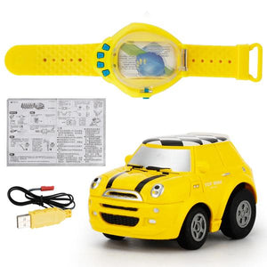 Mini Sensing Gravity Remote Control Watch Car USB Rechargeable-toys-hundredfeel-yellow-hundredfeel