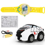Mini Sensing Gravity Remote Control Watch Car USB Rechargeable-toys-hundredfeel-white-hundredfeel