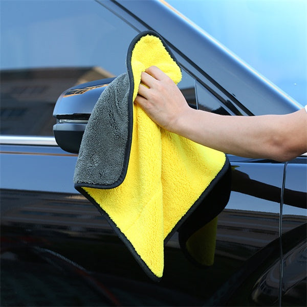 Ultra Thick Super Absorbent Car Cleaning Towel-home&kitchen-hundredfeel-yellow-S-hundredfeel