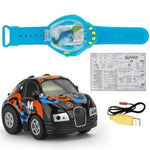 Mini Sensing Gravity Remote Control Watch Car USB Rechargeable-toys-hundredfeel-black-hundredfeel