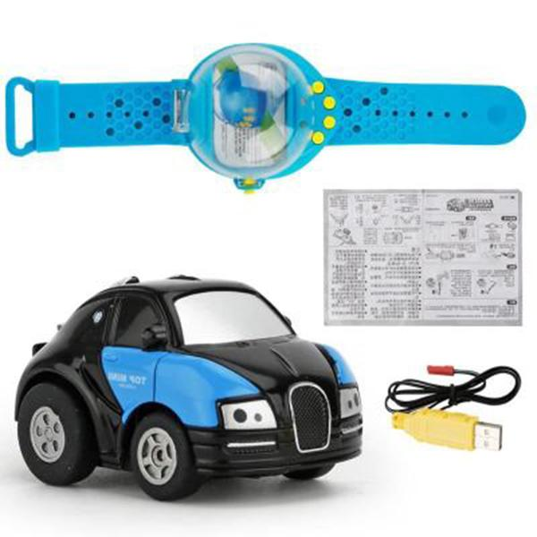 Mini Sensing Gravity Remote Control Watch Car USB Rechargeable-toys-hundredfeel-blue-hundredfeel