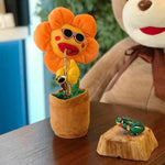Enchanting Sunflower Plush Funny Creative Electric Toys-toys-hundredfeel.com-Orange-Round Leaf-hundredfeel