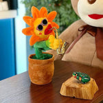 Enchanting Sunflower Plush Funny Creative Electric Toys-toys-hundredfeel.com-Orange-Sharp Leaf-hundredfeel