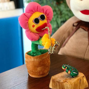 Enchanting Sunflower Plush Funny Creative Electric Toys-toys-hundredfeel.com-Red-Round Leaf-hundredfeel