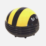 Portable Beetle Ladybug Mini Desktop Vacuum Desk Dust Cleaner-home&kitchen-hundredfeel-YELLOW-hundredfeel