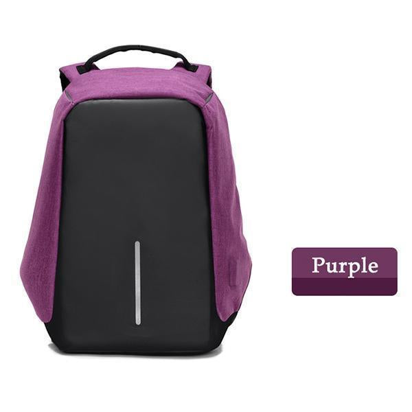 Multifunctional Anti-theft Backpack-ACCESSORIES-hundredfeel.com-Purple Backpack-hundredfeel