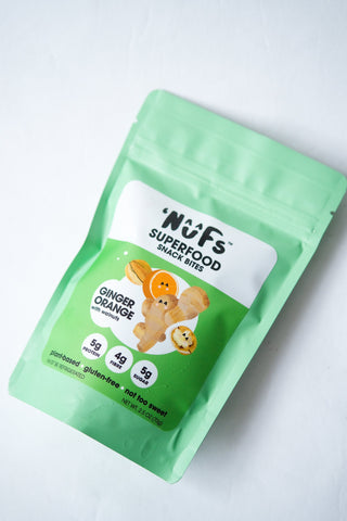 Nuf's Superfood Snack Bites, Ginger Orange with Walnuts