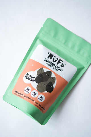 Nuf's Superfood Snack Bites, Black Sesame