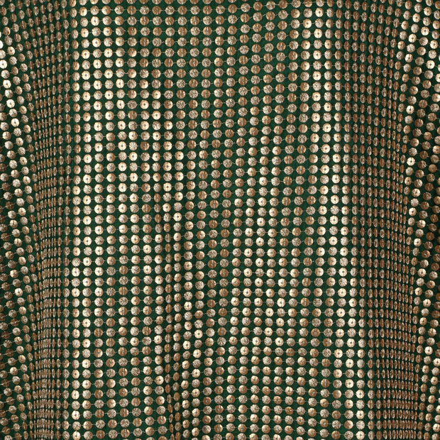 Machine Embroidered Fabric Design # 4131 - Pure Green - Per Yard