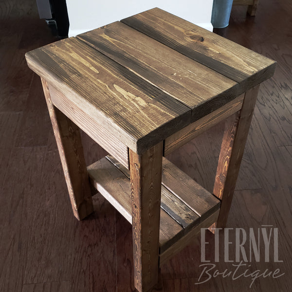 Farm Style Square Accent Table - Eternyl - Brand - Apparel