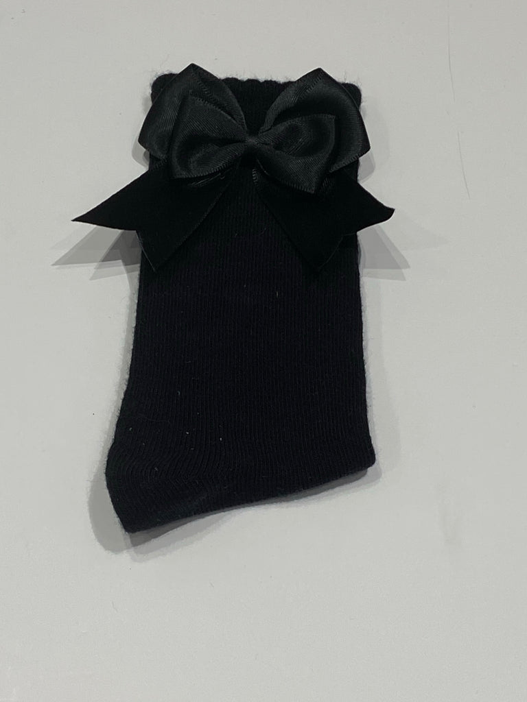 Black bow sock