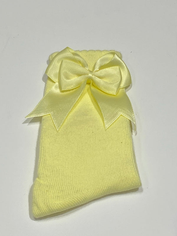 Lemon bow sock